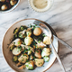 Greek lunch with potato salad, olives and white wine - PhotoDune Item for Sale