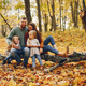 Family with cute kids in a autumn park - PhotoDune Item for Sale