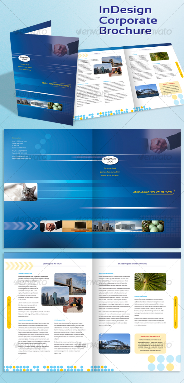 Corporate a4 brochure indesign template by peterpap for Free brochure indesign template