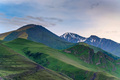 View of beautiful mountains in northern caucasus in the evening or early morning - PhotoDune Item for Sale