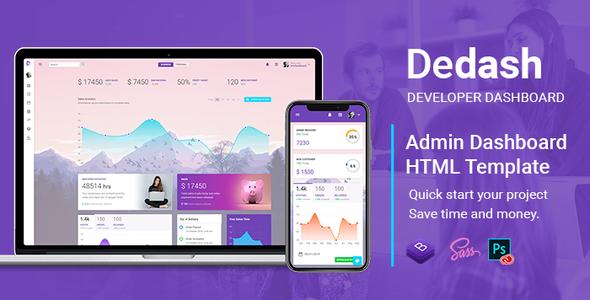Dedash - Multipurpose Developer Dashboard HTML Template by Maxartkiller