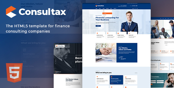 Excellent Consultax - Financial & Consulting HTML5 Template