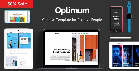 Optimum - Template for Creative People