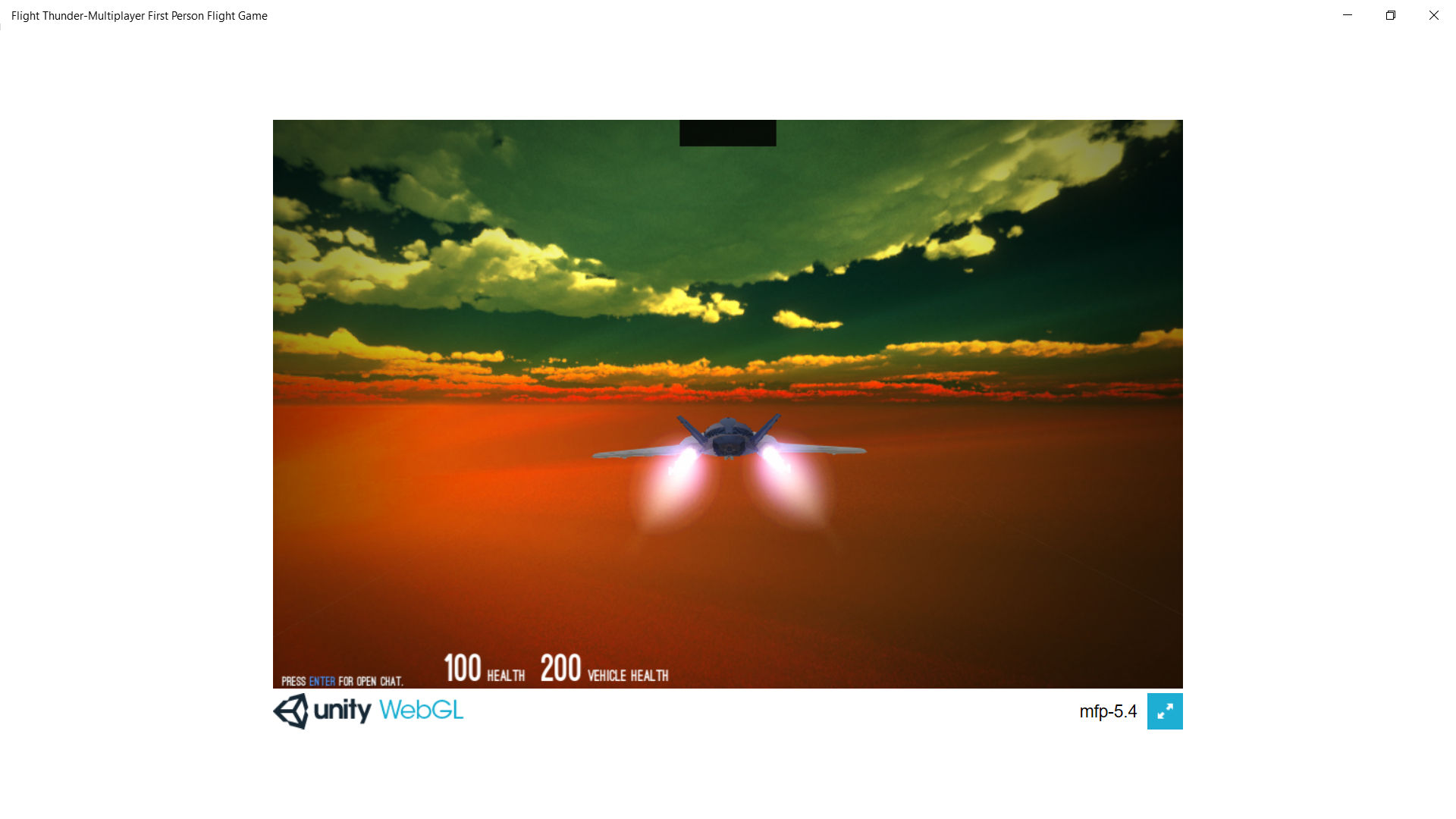 Multiplayer 3D Jet Flying Game (WebGL and HTML5