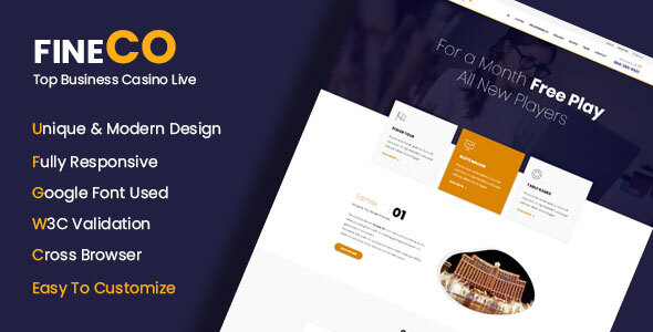 Excellent Fineco - Corporate Business Template