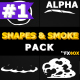 2D Shapes And Smoke | Motion Graphics Pack - VideoHive Item for Sale