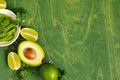 Green Background with Avocado - PhotoDune Item for Sale