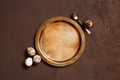 Quail Eggs and the Vintage Metal Plate - PhotoDune Item for Sale