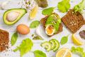 Healthy Toasts with Avocado and Eggs - PhotoDune Item for Sale