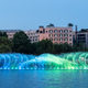 beautiful fountain on hangzhou west lake - PhotoDune Item for Sale