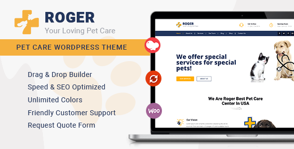 Special Roger - Pet Care WordPress Theme