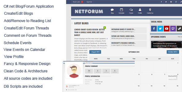 NetForum C#.Net Forum & Blog Application