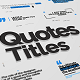 Just Type | Quote Titles - VideoHive Item for Sale