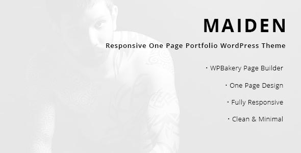 Maiden - Responsive One Page Portfolio WordPress Theme by RavenBlueThemes