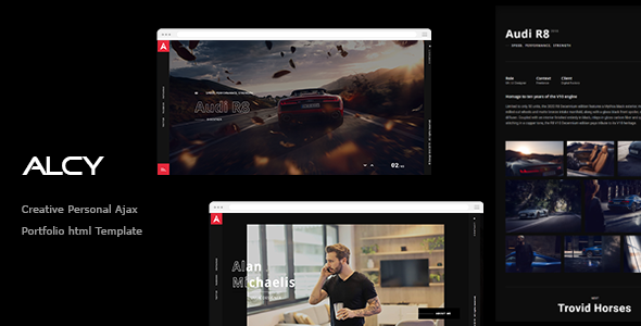 ِِAlcy -Creative Personal Ajax  Portfolio html Template by design_grid