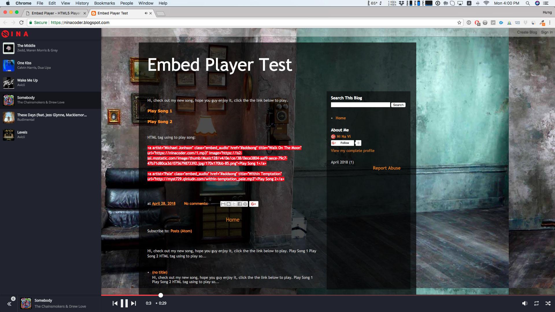 Embed Player - Sticky HTML5 Audio Player