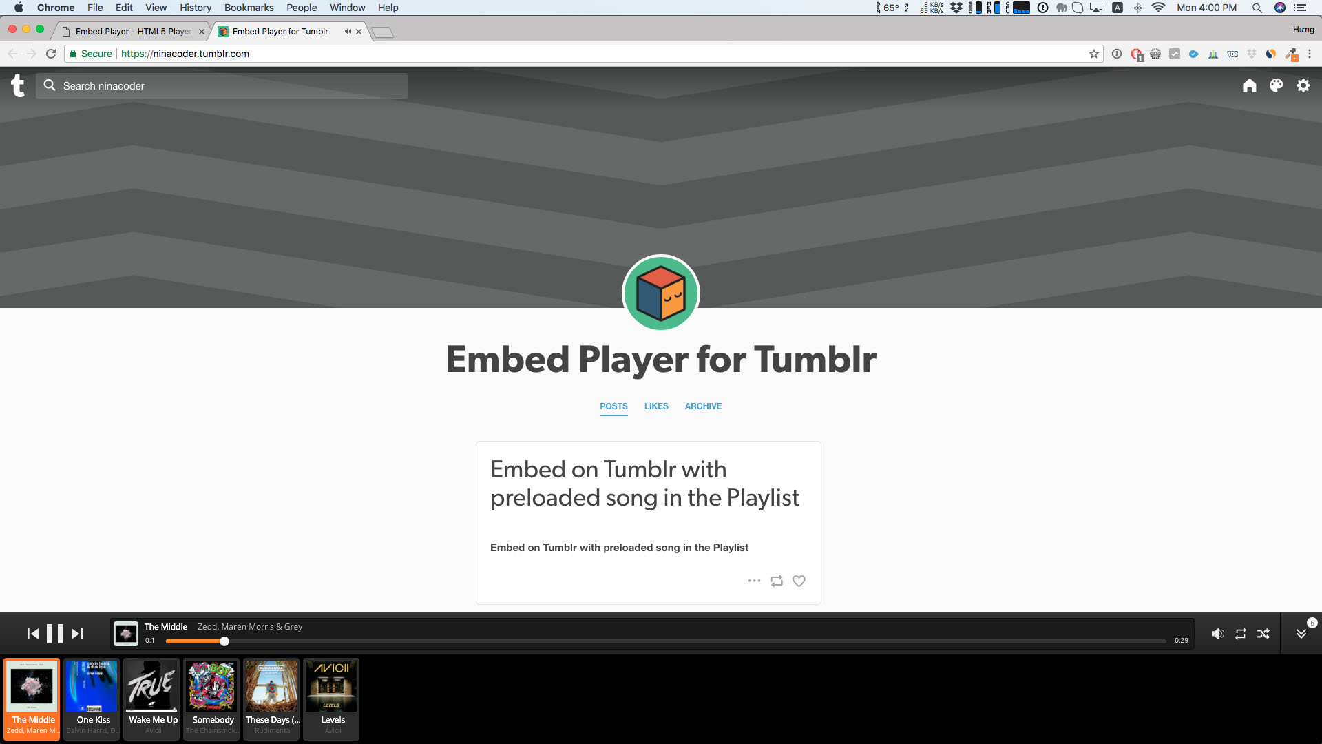 Embed Player - Sticky HTML5 Audio Player