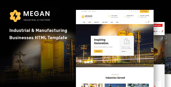 Megan - Industrial & Manufacturing Businesses HTML Template