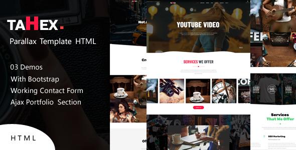 Tahex || Parallax Portfolio HTML Template by abuShop