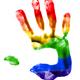 Rainbow hand print - PhotoDune Item for Sale
