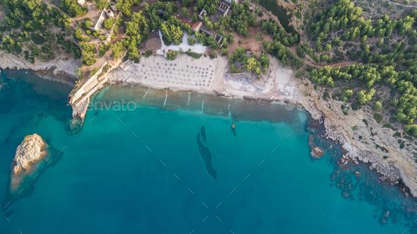 Metalia beach. Thassos island, Greece - Stock Photo - Images