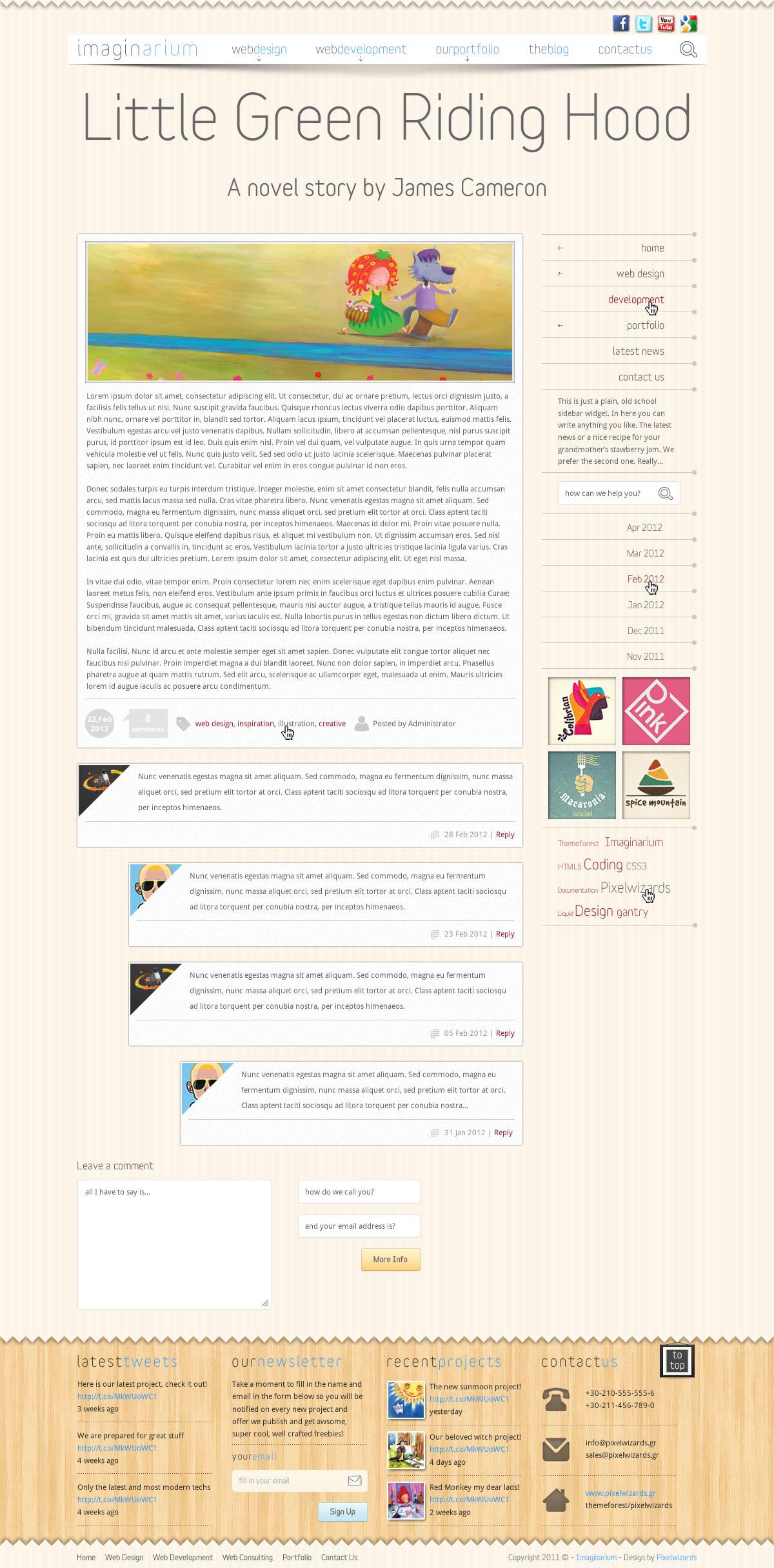 Imaginarium - Artistic Website Template