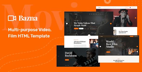 Bazna - Multipurpose Film Maker & Video HTML5 Template by BDevs