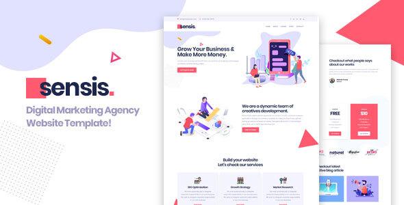 Sensis || Creative Agency Portfolio Template