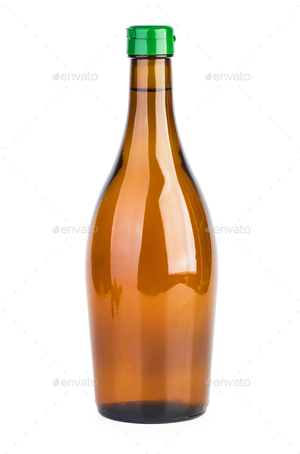 Botle of apple vinegar - Stock Photo - Images