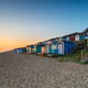 Rows of beach huts at Milford on Sea - PhotoDune Item for Sale