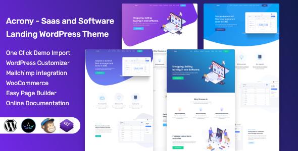 Acrony Software and Saas Theme