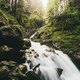 Waterfall environment with green moss - PhotoDune Item for Sale