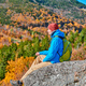 Backpacker man at Artist's Bluff in autumn - PhotoDune Item for Sale