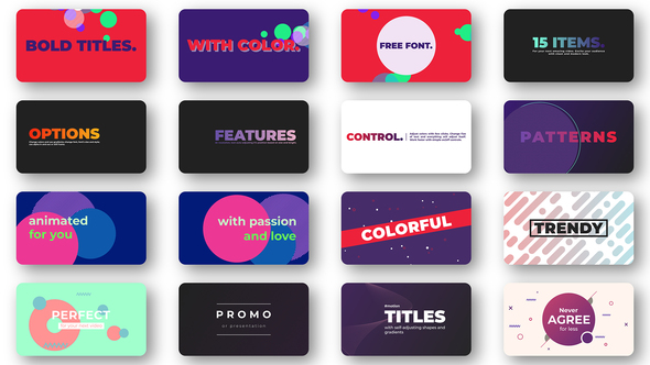 Bold Colorful Titles – Essentail Graphics