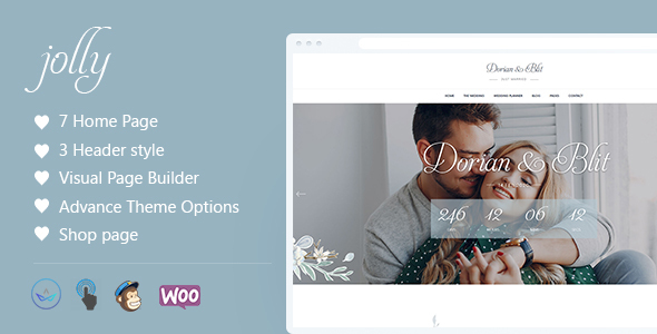 Jolly - Wedding Invitation & Planner WordPress Theme