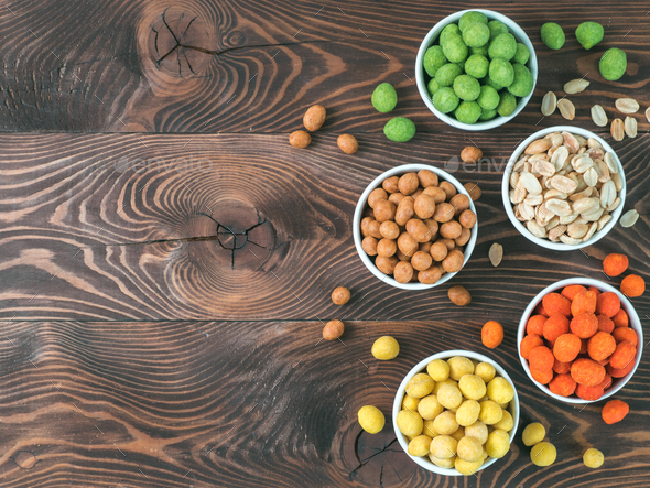 Peanuts snacks for party bar - Stock Photo - Images