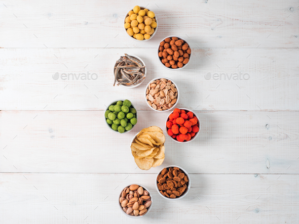 Different snacks for beer - Stock Photo - Images