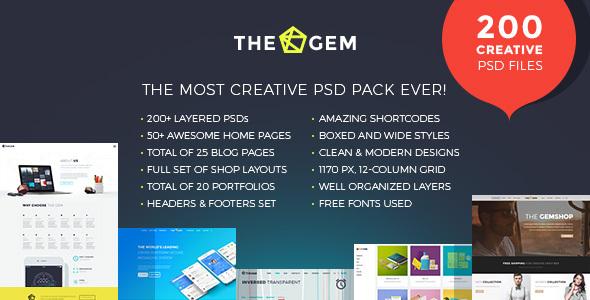 TheGem - Creative Multi-Purpose PSD Template