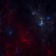 Space background with blue and red nebula - PhotoDune Item for Sale