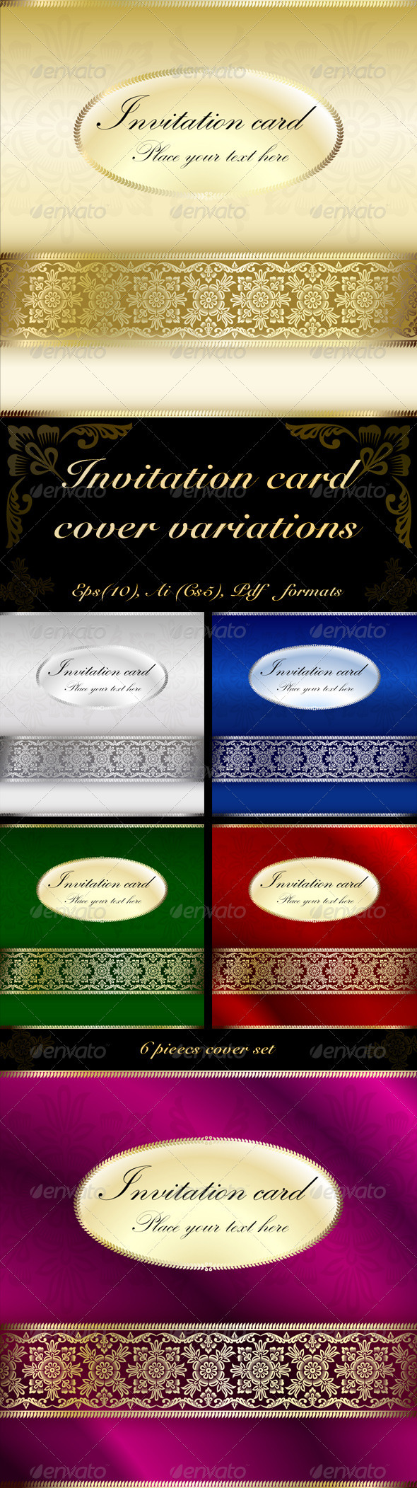 Invitation Card Cover Variations - Seasons/Holidays Conceptual