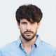 Close up handsome  male fashion model face with beard - PhotoDune Item for Sale