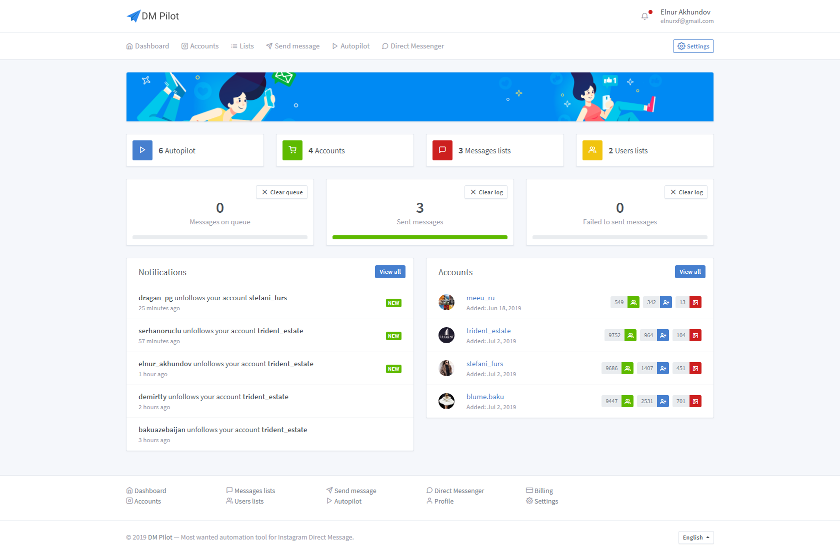 DM Pilot — Most Wanted SaaS Automation Tool for Instagram Direct Message