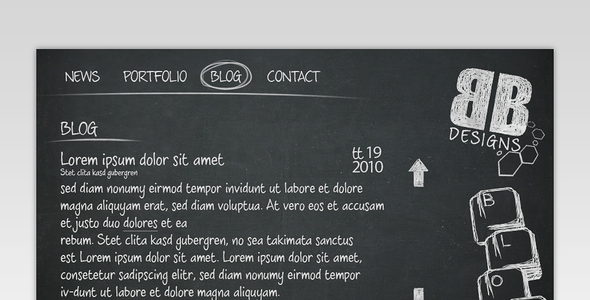 Black Board Portfolio Template - Portfolio Creative