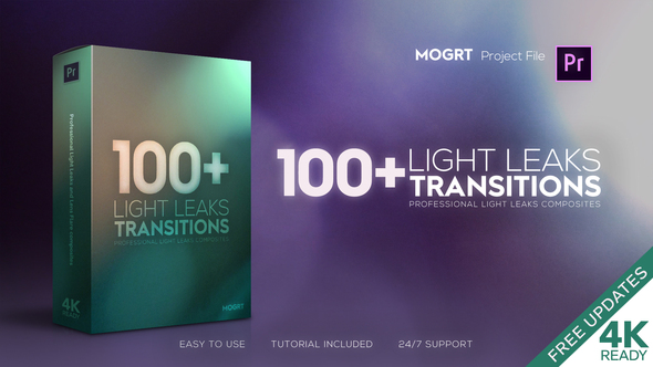 Light Leaks Transitions | MOGRT
