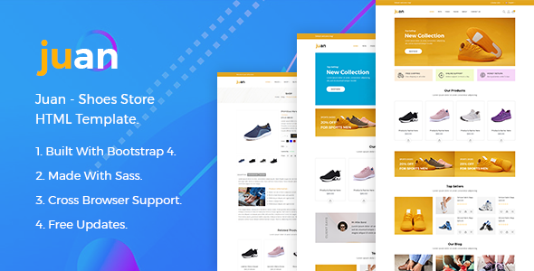 Juan – Shoes Store HTML Template by HasTech