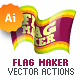 Vector Flag Maker - Illustrator Actions Pack - GraphicRiver Item for Sale