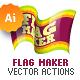 Vector Flag Maker - Illustrator Actions Pack - GraphicRiver Item for Sale