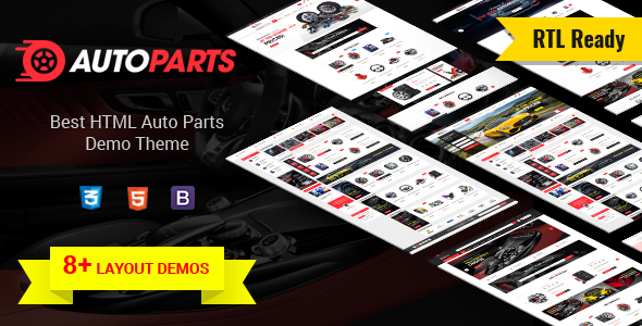 AutoParts  – Tools, Equipments and Accessories Store HTML Template