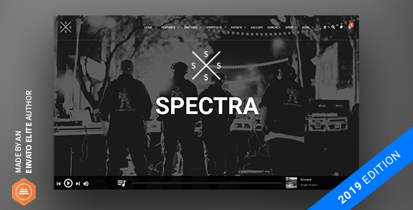 Spectra - Music Theme for WordPress