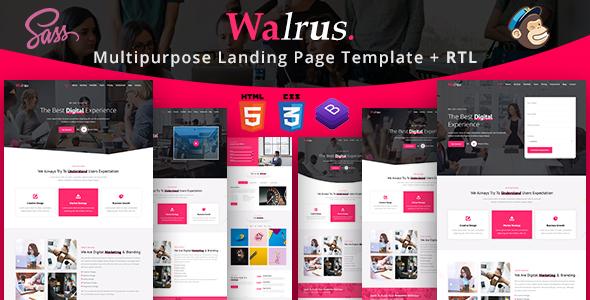 Walrus   Multi-Purpose Landing Page HTML Template by EnvyTheme